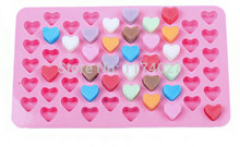 Free shipping 55 holes 1.5 Mini heart mold Silicone Chocolate mould Cake decorating tools kitchen accessories