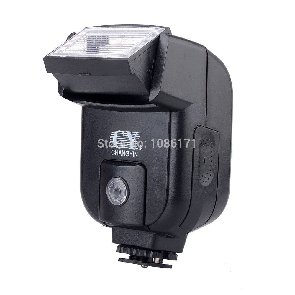 YINYAN CY-20 Small Mini Hot Shoe Camera Flash Speedlite Speedlight with PC Sync Port for Canon for Nikon DC DSLR<br><br>Aliexpress