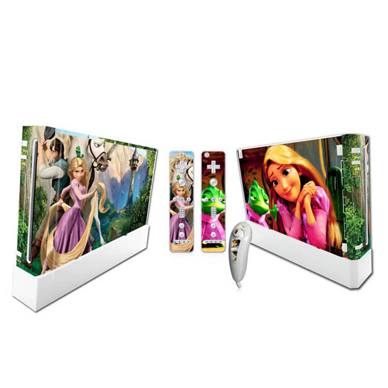 101 # Skin Sticker Vinyl Decal Protector For Nintendo WII Console TN-WII-101(China (Mainland))