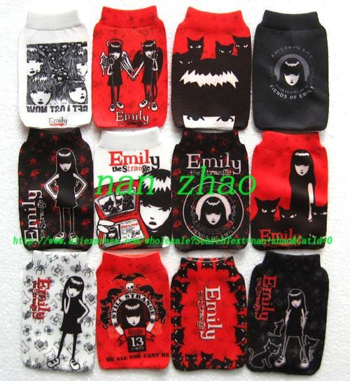 Free Shipping Hot Products+120pcs Great New MOBILE PHONE Holders Pouch Socks bag(China (Mainland))