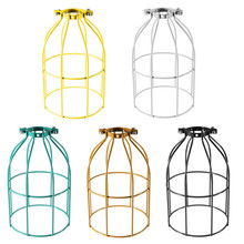 Beautiful Design Vintage Steel Bulb Guard Clamp On Metal Lamp Cage Retro Trouble Light Industrial(China (Mainland))