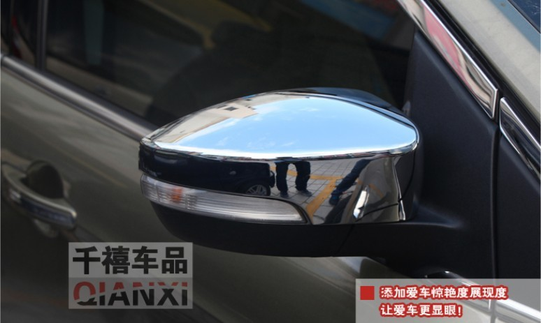 2PCS Chrome Body side door mirror mirrors cover Trim For 2013 2014 2015 Kuga Escape(China (Mainland))