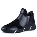 good quality mens slip on snow boots with plush inside fashion model winter set feet high