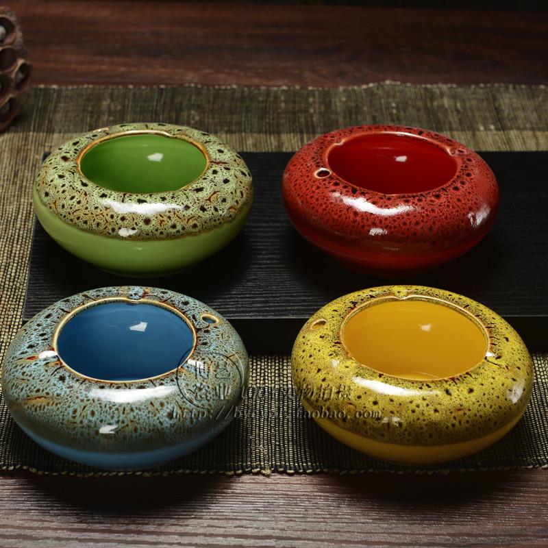 New arrival kiln fashion personalized ceramic ashtray fashion vintage Large at home commercial ashtray(China (Mainland))