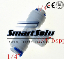 """Buy Free 1/4"""" middle male OD Hose Type T qucik connection RO Water Connector Fittings joint Reverse Osmosis Aquarium System for $20.40 in AliExpress store"""