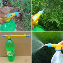 New Arrival High Quality Mini Juice Bottles Interface Plastic Trolley Gun Sprayer Head Water Pressure Free Shipping(China (Mainland))