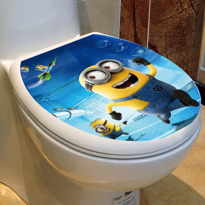 Cartoon Toilet decoration Toilet cover Decal Waterproof Sticker Animation Cartoon Star(China (Mainland))