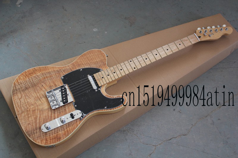Wholesale new style telecaster guitar Ameican standard tele Brownish red electric guitar with Golden yellow Golden @15(China (Mainland))