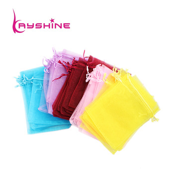 (Random color)Fashion Gift Package Big size 10pcs/lot Colorful Transparent Gauze Bag for Jewelry Packaging & Display