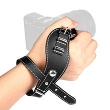 New Leather Wrist Hand Strap Grip Belt for Canon Nikon Sony Mirrorless Camera(China (Mainland))