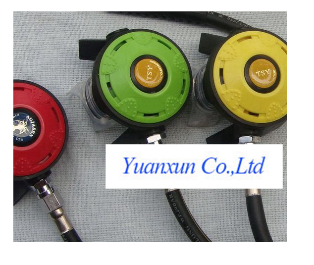 Double cover two dive diving breathing respirator regulator decompression diving two head regulator