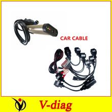 2015.1 R1 software on cd with 8pcs full set cable cables for car for autocom cdp pro(China (Mainland))