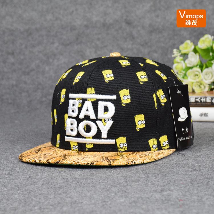 Cartoon badboy porch baseball cap hip-hop hat tide Miss Xia Tiannan wholesale(China (Mainland))