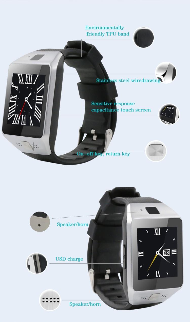 ถูก 2016แฟชั่นa plus smart watch jv0hสนับสนุนไมโครซิมการ์ดการสื่อสารบลูทูธ3.0นาฬิกาpk dz09 gt08 u8