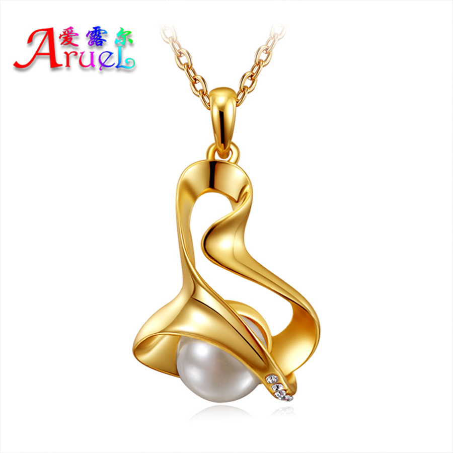 Simulated-pearl jewelry channel necklace for women girls collares fashion gold plated Rhinestone pearls necklaces & pendants(China (Mainland))