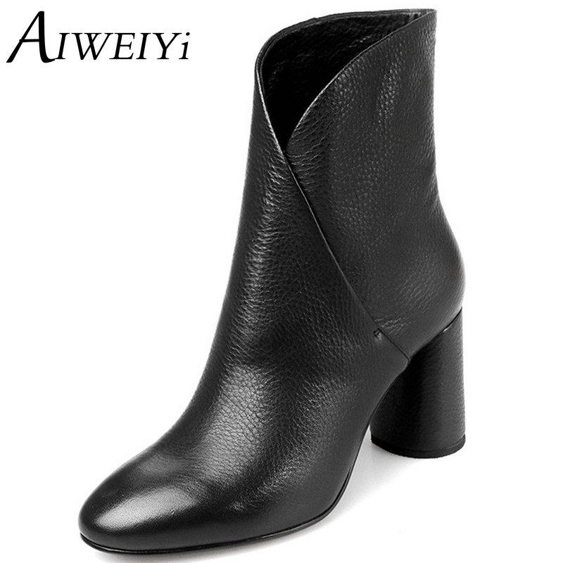 Online Get Cheap Black Leather Ankle Boots Women -Aliexpress.com ...