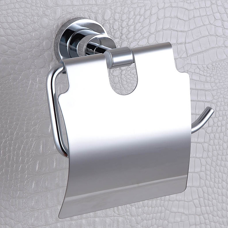 Simple 304 Stainless Steel and Copper Roll Holder,Polished Chrome Toilet Paper Holders with Wall Mounted(China (Mainland))
