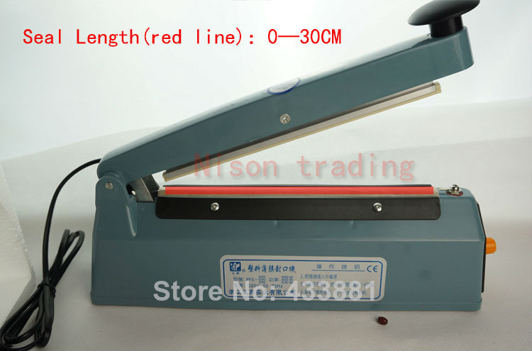 30CM(12 inch)-Voltage(220V)Heat seal machine hand seamer manual sealing - Nison trading store