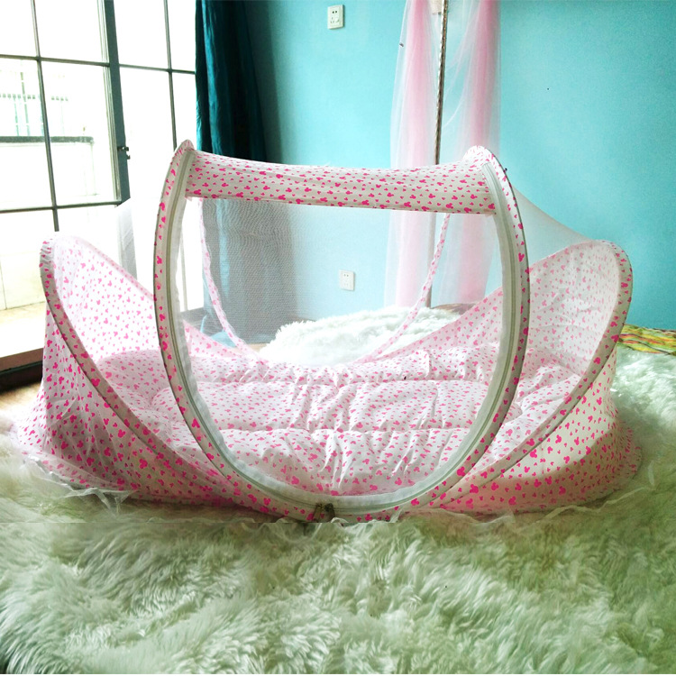 Hot baby bed baby crib spring summer 0-4 years portable tent baby cots foldable crib mosquito net newborn travel bed baby cradle(China (Mainland))