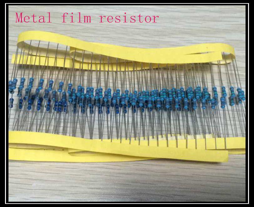 Гаджет  100pcs/lot Metal film resistor 10k (1002) +-1% 1/4W None Электронные компоненты и материалы