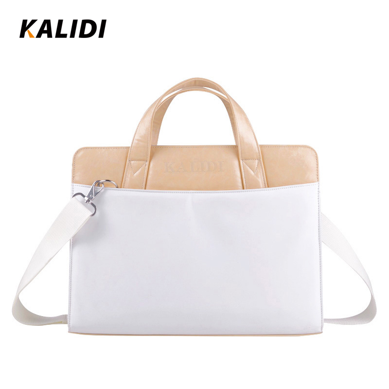 KALIDI Women Stylish Laptop Shoulder Bag Briefcase Handbag Sleeve Case for 14 Inch Notebook Computer Messenger Laptop Bags White(China (Mainland))