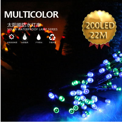 200LED 22M Solar LED string lights landscape lighting outdoor garden lights waterproof lights for home lawn garden solar angel(China (Mainland))