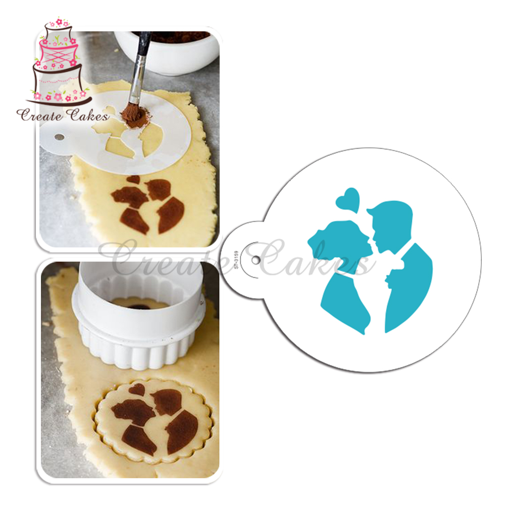 Sweetheart Cookie/Cupcake Stencil,Fondant Cake Decorating ...