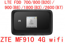 Desbloqueado ZTE MF910 LTE 4 G wi fi Router 4 G WIFI dongle Mobile Hotspot 150 Mbps rede Router pk mf90 r212 mf91 mf93 mf80 mf95 mf60