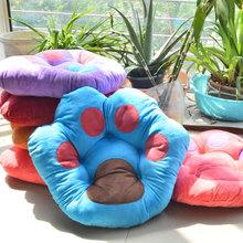 5 Colors Soft Thick Cotton Decorative Pillow Cushion Bear Claw Shape Throw Pillow Car Chair Sofa Seat Cushions Almofadas Cojines(China (Mainland))
