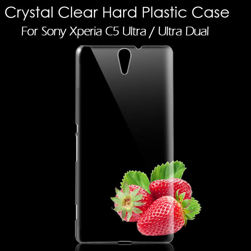 for Sony Xperia C5 Ultra Case Crystal Clear Hard Plastic Phone Cover Sony Xperia C5 Ultra E5553 E5506 / Ultra Dual E5533(China (Mainland))