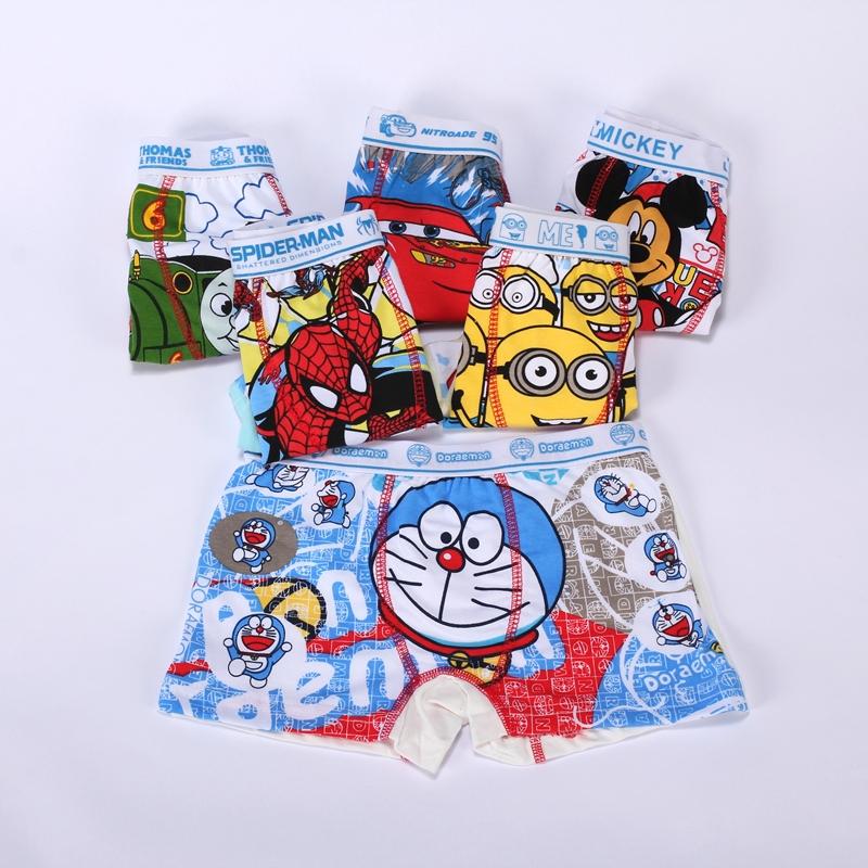 2015 New 6pcs/lot Children Underwear Boy Boxer Shorts 2-10T Kids Baby Cartoon Panties Boys Underwear bragas calcinhas infantis(China (Mainland))