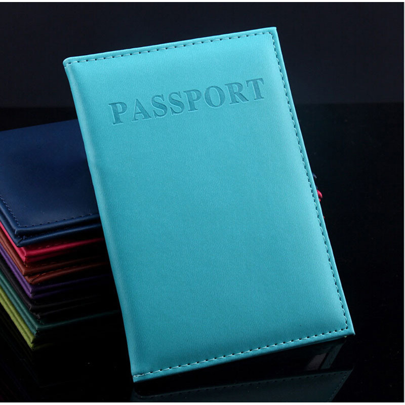 2015 Hot Women Men Fashion Faux Leather Travel Passport Holder Cover ID Card Bag Passport Wallet