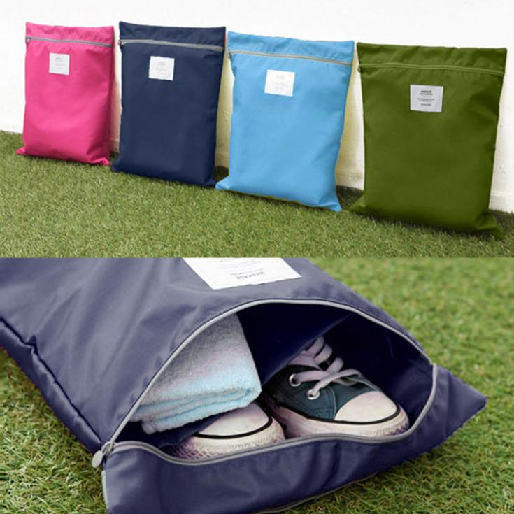 Waterproof Laundry Shoe Travel Pouch Storage Portable Tote Zipper Bag Organizer Drop Shipping HG-1328\br(China (Mainland))