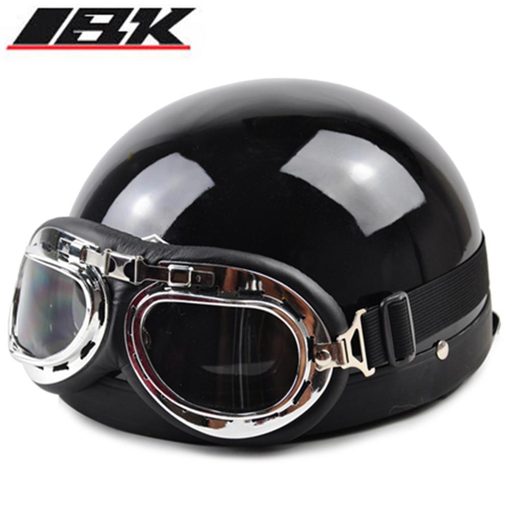 2016 Half Motorcycle Helmets outdoor sport man and woman black Motorcycle Racing Helmet + motocross Goggles(China (Mainland))