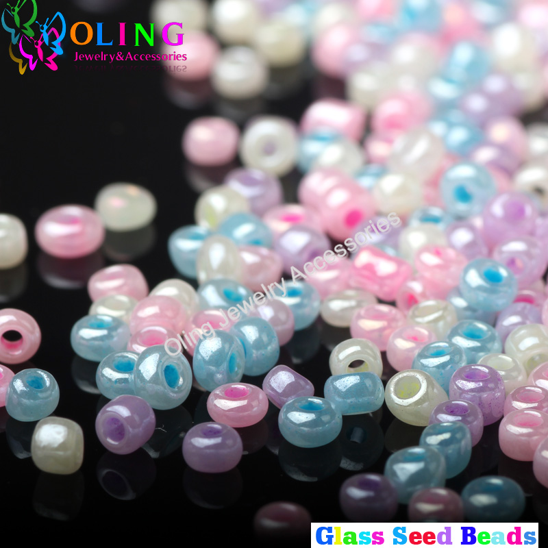 AAA 2MM candy colors mixed multicolor Glass Seed beads 1700pc Spacer Bead women font b earrings