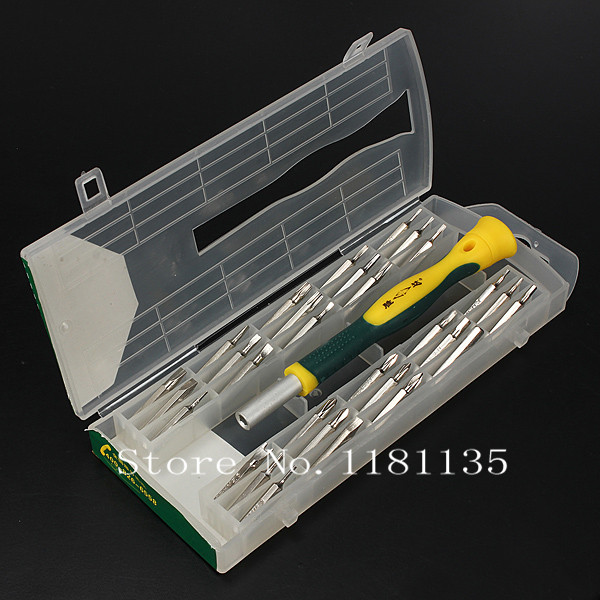 New 31pcs Precision Screwdriver Set Phillips Torx Slotted Hex Key Security Bits Free Shipping(China (Mainland))