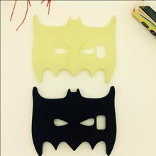 Tongpai!Classic cartoon 3D black and noctilucence Batman mask silicon material cover cases for samsung galaxy s6 phone cases(China (Mainland))