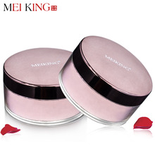 MEIKING Rose Plant Powder Oil Control Loose Powder cosmetics 15g compact Whitening Brighten Skin Tone Makeup mineral powder(China (Mainland))