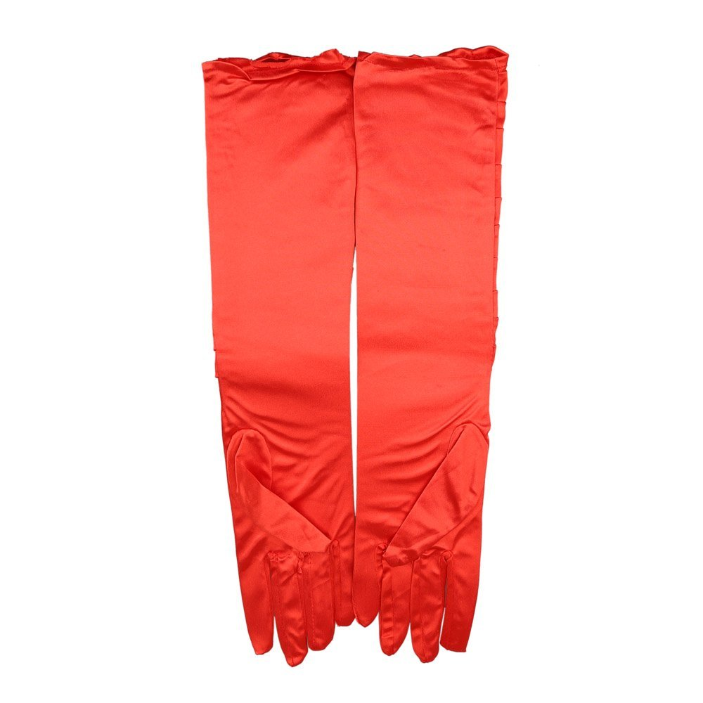 BISM Hot sexy Satin Ruched elegant Suede gloves accessories for Bride Bridesmaid gloves Fancy Dress Costume 3 colors(China (Mainland))