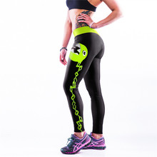 Spring Summer Compression Women Sport Pants New Digital Print Run Fitness Thin Skinny Personality Trousers C40(China (Mainland))
