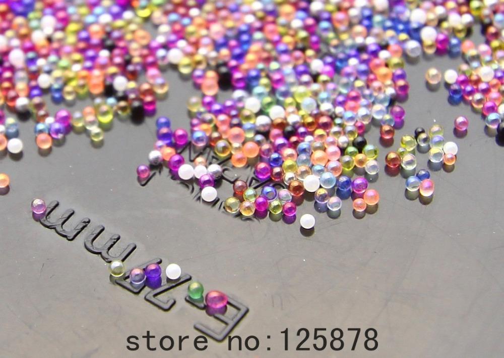 12g or 20000pcs Glass Micro Beads No Hole 0.6mm -0.8mm Nail Art Caviar Marbles Microbeads B299(China (Mainland))