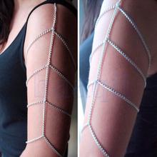 Hot Fashion Rock Body Chain Shoulder Arm Jewelry Metal Tassel Choker Chain JW1912(China (Mainland))
