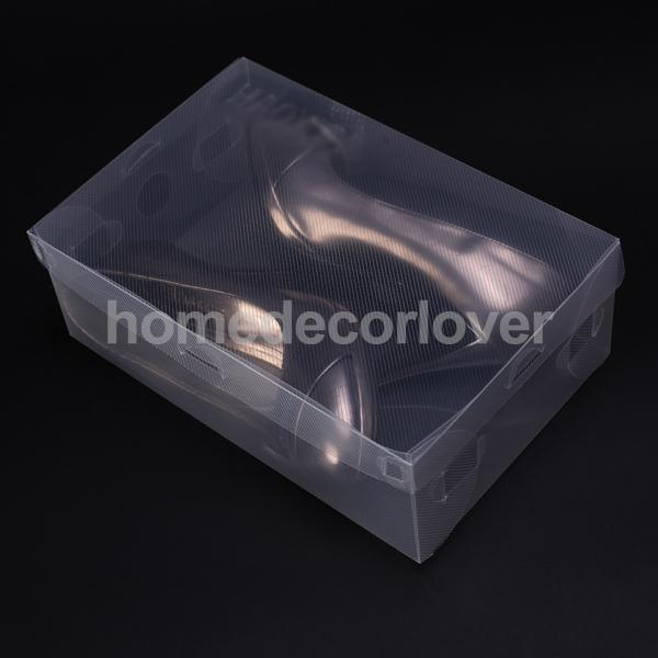 Clear Shoe Storage Box Container Foldable Shoe Holder Organizer Dustproof New(China (Mainland))