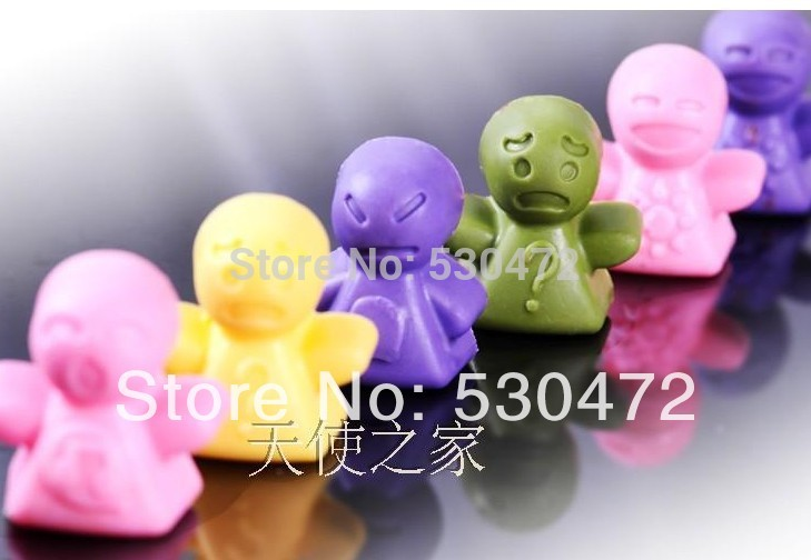 Expression doll silicone cake mold / chocolate mold / Ice Cube Tray / Handmade Soap mold 21*10.5*1.8CM/72G