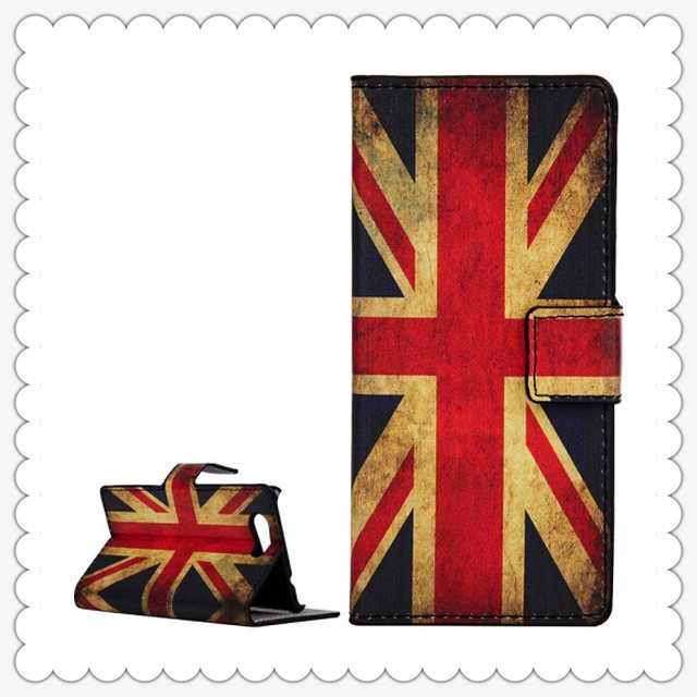 wholesale uk flag Pattern Leather Wallet Case with Holder Card Slots for Sony Xperia Z4 Compact 100pcs/lot(China (Mainland))