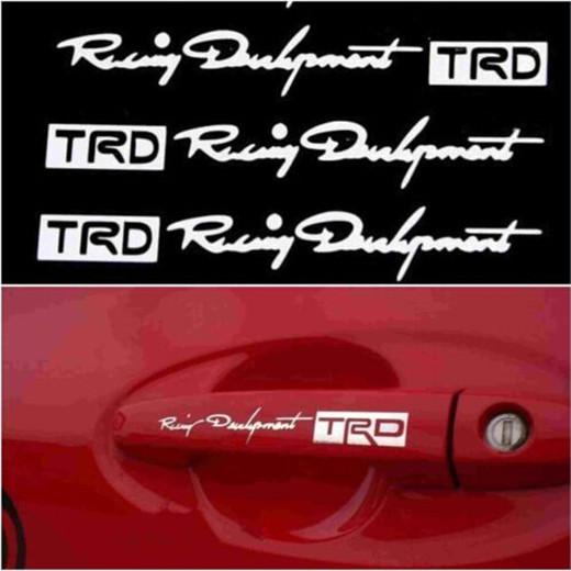 4Pcs High Quality Car The Door Handle Stickers Decals 3D Carbon Fiber Vinyl Car Stick