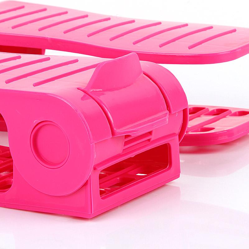 Thick adjustable storage shoe rack plastic simple finishing double shelf compartment(China (Mainland))