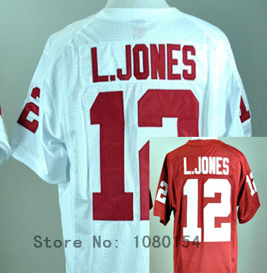 2014 TQJ Oklahoma Sooners Landy Jones #12 Red White USA College Football Jerseys College Jerseys for Sports Fans And Alumni(China (Mainland))