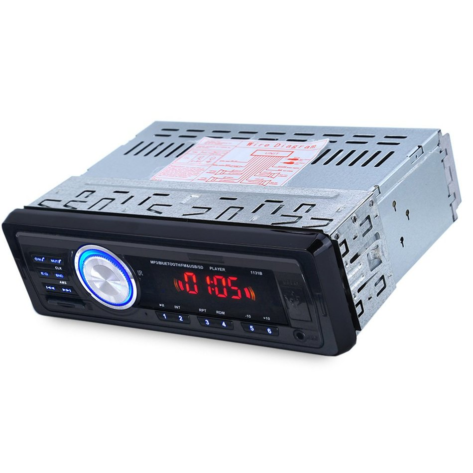 Car Audio Auto Radio Stereo Bluetooth V2.0 Support FM USB SD Mp3 Player AUX Mic with Remote Control for Vehicle Car DVD Device(China (Mainland))
