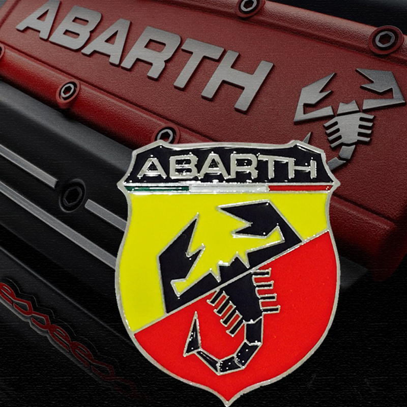 1pcs Car Styling 3D Metal Car sticker Scorpion Emblems For Car Accessories Abarth Sticker 3M Car Abarth Decal Adhesive Badge(China (Mainland))